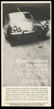 1966 Citroen DS-21 DS21 car photo vintage print ad