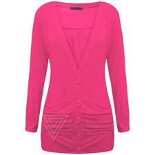 Langarm Damen-Pullover & -Strickware mit Knöpfen in Größe 38