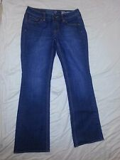 NY & C New York & Co Denim Jeans Blue Low Rise Boot Cut Curvy Size 4 P NWOT