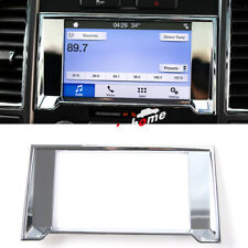 Chrome Dashboard Navigation Frame Cover Trim 1pcs For Ford F150 F-150 2015-2017