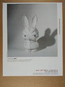 2002 Tom Sachs Miffy Sculpture Art of this Century vintage print Ad