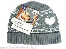 TCM Tchibo Damen Strickmütze Mütze Wintermütze weich & wärmend grau NEU