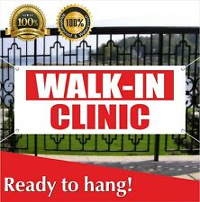 Walk-In Clinic Banner Vinyl / Mesh Banner Sign Now Open Doctor Hospital Rehab