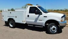 NO RESERVE 03 FORD F550 4x4 SUPER DUTY SERVICE UTILITY POWERSTROKE DIESEL CLEAN