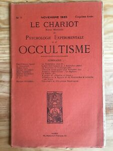 Le Chariot n°7/1933 revue Occultisme Astrologie Philosophie