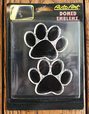 New Cute 3D Puppy Paws Window Sticker Car Decals Dog Prints Animal Lover Emblem