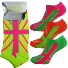 Ladies Women NEON Lime Green Holes Design Over Knee High Socks Party Fancy Dress