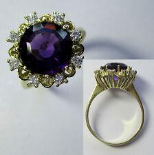 372 - Attraktiver Ring - Gold 585 - Amethyst - Brillanten -695/381-