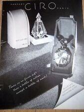 1936 CIRO REFLECTIONS Perfume Bottle Ad