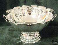 Italian solid sterling silver  large bowl  438 gr.