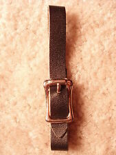 12 New 3/8 Narrow Black Leather Pocket/Watch Fob Straps