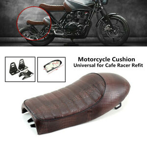 PU Leather Motorcycle Retro Soft Sponge Seat Racing Bike Comfort Hump Cushion