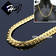 """Cuban Curb Link Chain Necklace*Gn155 24""""Men's Stainless Steel 6mm Gold Miami"""