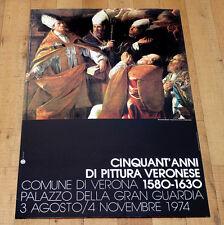CINQUANT'ANNI DI PITTURA VERONESE poster manifesto Marcantonio Bassetti Verona