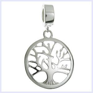 925 Sterling Silver Family Tree of Life Dangle Bead for European Charm Bracelet