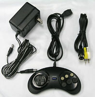 (Genesis Model 1) AC Adaptor Power Supply & AV Cable Cord & Controller Bundle
