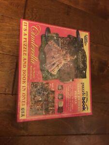 GIANT White Mountain PUZZLE BOOK 20 Piece Cinderella USA Ages 4+ 24 X 30 SEALED