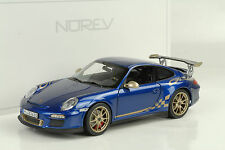 2010 Porsche 911 997 GT3 RS 3.8 aquablau metallic / gold stripes 1:18 Norev