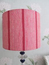 Handmade Drum Lampshade Vanessa Arbuthnott Pink Stripe Fabric 25cm