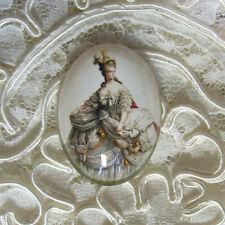Marie Antoinette 30X40mm Glitter Unset Handmade Glass Art Bubble Cameo Cabochon