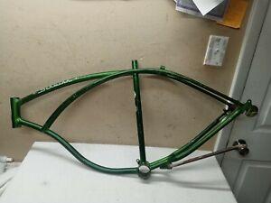 """Vintage 1969 Schwinn Campus green 26"""" Cruiser Bicycle frame Typhoon klunker s7"""