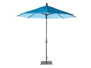 Shelta Rio 2.7m Octagonal Garden Market Bright Tilt Umbrella Turquoise Blue