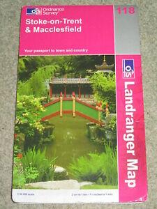 OS Ordnance Survey Landranger Map Sheet 118 Stoke on Trent & Macclesfield - 2003