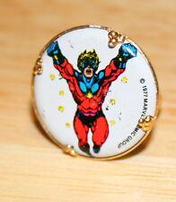 2 Vintage Toy Gum Ball Vending Machine Metal Ring Captain Marvel Comics 1977