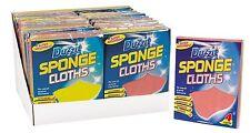DUZZIT 4 SPONGE CLOTHS SUPER ABSORBENT KITCHEN SHOWER BATHROOM FLOORS DZ1016