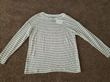 Womans Cream And Tan Sweater Size Large, Long Sleeve Brand New Top