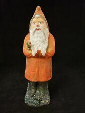 """Vintage German 1890's Orange Belsnickel Santa Saint Nickolas 9.25"""""""