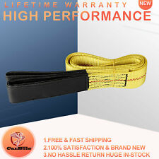 1pcs 6ft X 2in Lifting Sling Straps With Heavy Duty Flat Loops 10000lbs Nylon Us