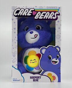 "Care Bears HARMONY BEAR 14"" Plush Soft Toy Lavender Daisy 2021 Exclusive NEW"