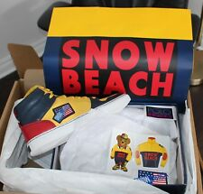 Brand New SOLD OUT Polo Snow Beach Hi-Top Shoes MEN'S 10 Sneakers Stickers 2018