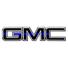 07-17 GMC Sierra Yukon THIN BLUE LINE Front Grill Emblem Overlay Decal