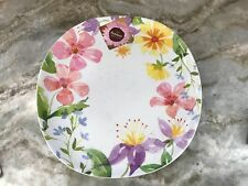 Indoor Outdoor Summer Collection Melamine Dinner Plates. Oval Set Of 4. New.