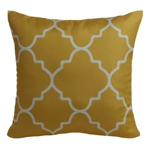 "Mainstays Gold Fretwork Decorative Patio Throw Pillow 18"" SET of 2"