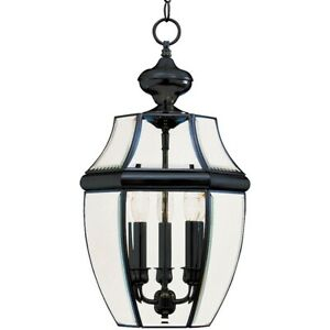 Maxim South Park 3-Light Outdoor Hanging Lantern Black - 6095CLBK