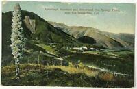 Postcard Near San Bernardino CA Arrowhead Hot Springs Hotel Mountain Bird's Eye