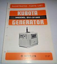Kubota GV-3120 Generator Parts Catalog Manual Book Original!