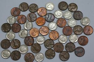 USA MASSIVE DIME'S & SMALL CENTS LOT MOSTLY HIGH GRADE B28 XJ27