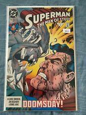 Superman Man of Steel 19 Doomsday ! High Grade Comic Book ML1 - 2