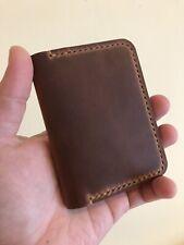 Handmade Leather Wallet - Pocket wallet, slim, card holder - Personalisation