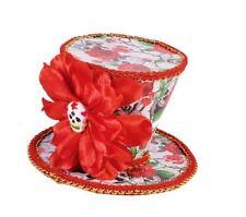 Day Of The Dead Mini Top Hat D?a de Muertos Costume Accessory Skulls Flowers New