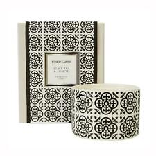Fired Earth Design Large Ceramic Candle Black Tea & Jasmine by Wax Lyrical