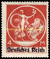 EBS Germany 1920 Bavaria overprinted Deutsches Reich 4 Mark Michel 135 I MNH**