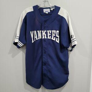 Rare VTG 90s Starter New York Yankees Mariano Rivera 42 Jersey Mens L Sewn