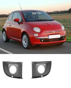 For Fiat 500 2007-2015 Front Bumper Lower TRIM FOG LIGHT COVER Set LEFT+RIGHT