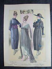 Gravure in folio circa 1910:MODE ANCIENNE:La femme chic:l/'album tailleur,1919
