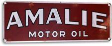 """Amalie Oil Retro"" Metal Decor Wall Art Gas Auto Shop Sign"